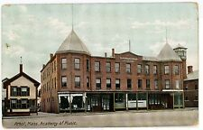 Athol MA Academy of Music -- Shoe Store Antique PC ca. 1910