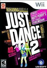 "Just Dance 2 (Nintendo Wii, 2010) with Free Katy Perry ""Firework"" Download NEW"