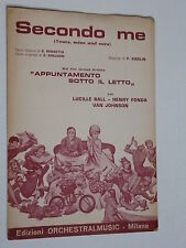 SECONDO ME (YOURS, MINE AND OURS) -  1968  SPARTITO MUSICALE SHEET