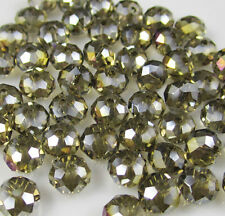 NEW Jewelry Faceted 100 pcs Gray AB #5040 3x4mm Roundelle Crystal Beads DIY B3