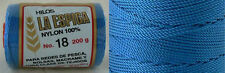 Omega Nylon Crochet Thread Size 18 - Cobalt Blue Color #29 - Nylon Thread