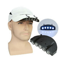 5 LED Under the Brim Cap / Head Light Hat LIGHT with Batteries Fishing Hiking