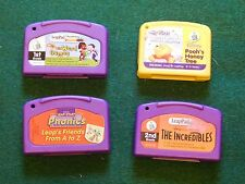 Lot of Working LeapPad Games Cartridges Disney The Incredibles, Pooh's Honey Tre