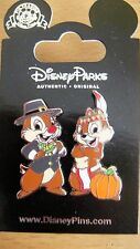 Disney Chip and Dale - Thanksgiving 2 Pin Set - 2014 - New on Card - # 106453