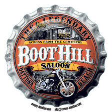 Boot Hill Saloon shaped vinyl decal sticker 90mm Harley Motorbikes Daytona Beach