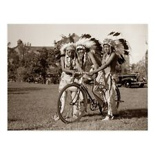 "*Postcard-""3 Native American-Indian Boys"" on Bicycle/  (B-#15)"