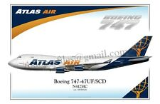 Boeing 747 ATLAS AIR- Poster Profile