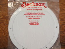 "DECK PLATE POP OUT BECKSON 35 DP83W WHITE 10"" OD 8"" OPENING NONSKID DECKPLATE"