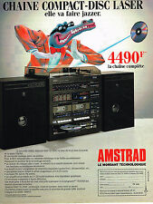 PUBLICITE advertising  1989   AMSTRAD   chaine compact-disc laser
