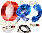 1500W SUB Audio 8 Gauge Car Amplifier Amp Installation Wiring Complete Kit AW