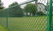 Green PVC coated  steel wire Chain Link Fence  1.8 m*10 m *50 mm *50 mm*3.3 mm