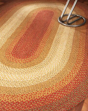 NEW Durable, Hand Braided Estilo Jute Oval Rug 5' x 8'