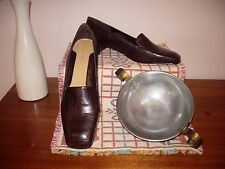 "Women's ""Jane Debster"" Deed., size 10.5, leather upp/sock., choc.brown , made in"