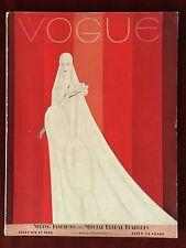 Vogue Magazine ~ February 15, 1928 ~ Benito Bride Cover Art Deco Spectacular