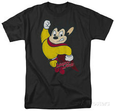 Mighty Mouse - Classic Hero Apparel T-Shirt XL - Black