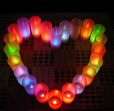 Multicolor LED Candle Flameless Light Lamp Romantic Night Valentine's Day  HOTi