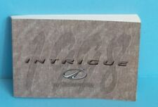 98 1998 Oldsmobile Intrigue owners manual