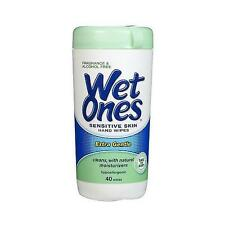 Wet Ones Fragrance Free Sensitive Skin Moist Wipes-40Ea