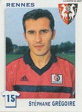 N°290 STEPHANE GREGOIRE RENNES RENNAIS VIGNETTE PANINI FOOTBALL STICKER 2000