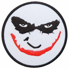 Joker Smiley Batman Villain Carnival Super Hero Embroidered Iron-On Patches 0575