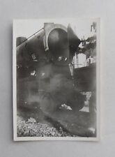 1940s B/W Photograph. Railway Locomotive. Conical Front of Boiler Shown Open