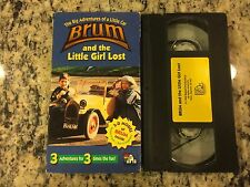 THE BIG ADVENTURES OF A LITTLE CAR BRUM AND THE LITTLE GIRL LOST RARE VHS 1994