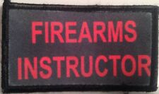 firearms instructor logo hook and loop embroidered patch package of 4