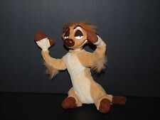 "Vintage Disney The Lion King TIMON Plush Vinyl Head Mattel 1994 8"" Poseable"
