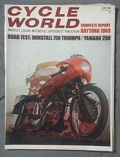 1969 JUNE CYCLE WORLD MAGAZINE DUNSTALL 750 TRIUMPH YAMAHA 250 DAYTONA
