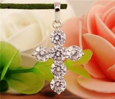 Women's Cross Pendant Necklace with 18in Snake Chain Necklace