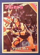 STEVE MIX signed 1975-76 Topps Philadelphia 76ers
