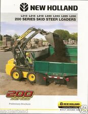 Equipment Brochure - New Holland - 200 Series Skid Steer Loader 2010 (E1120)