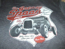 New Greasy Spoon Diner Mens Vintage Truck Car Gray T-Shirt Size Medium M