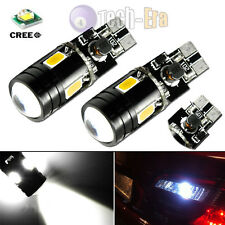 2x White High Power Canbus T10 T15 168 2825 W5W CREE LED Bulbs for Backup Lights