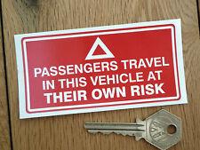 """Viaggiano a rischio proprio Avvertimento Adesivo 4 """"TRATTORE CAMION VAN opere Rimorchio"""