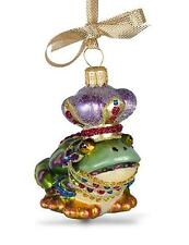 Jay Strongwater MIni Frog Prince Glass Ornament Swarovski Elements New In Box