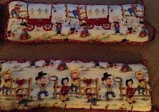 Crib Bumpers Padding Western Cowboy Horse Baby Nursery Country Theme