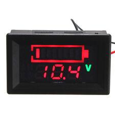 12V Acid Lead Batteria Stato Indicatore Capacita' Dual Display LED Tester Meter