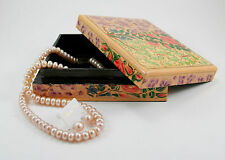 Authentic handcrafted traditional paper mache lacquered jewelry box - J1