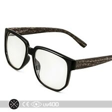 Wood Print Glasses Hipster Indie Fashion Clear Lens Frames Free Case S235