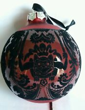 Disney Parks WDW Disneyland HAUNTED MANSION Red Wallpaper Christmas Ornament NWT