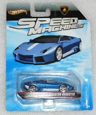NEW HOT WHEELS SPEED MACHINES LAMBORGHINI REVENTON ROADSTER BLUE LONG CARD RARE