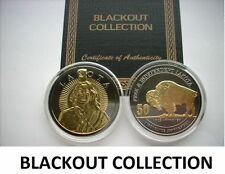 1 OZ SILVER COIN LAKOTA BLACKOUT COLLECTION RUTHENIUM-24KT BLACKOUT COLLECTION
