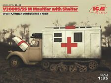 ICM 1/35 35414 WWII German Ambulance Truck V3000S/SS M Maultier with Shelter