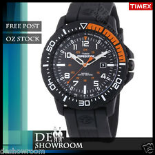 Timex Men's Expedition Black Resin Watch, Indiglo, Date, T49940 Free Post