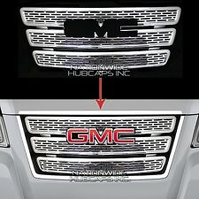 GMC TERRAIN CHROME Grille Overlay 3 Bar Grill Inserts Covers Denali Style NEW