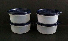 Tupperware Set Of 4 Serving Cups Containers Storage with Black Seals