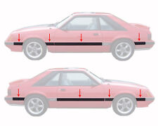 1985-1986 Mustang GT 8 Piece Body Side Moldings Mouldings Kit