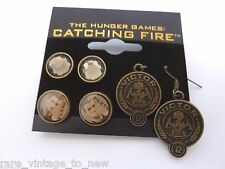 NEW Hunger Games Catching Fire NECA Victors PEETA 3 Pairs Earrings Prop Jewelry