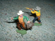 Britains 1/32 54mm  Old Swoppet Foot Cowboys x2 - includes bank robber